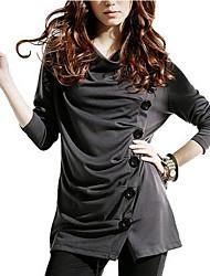 preiswerte -Damen Solide - Street Schick Festtage T-shirt, Rollkragen
