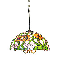 cheap -Diameter 40cm Tiffany Pendant Lights Glass Lamp Shade Living Room Bedroom Dining Room light Fixture