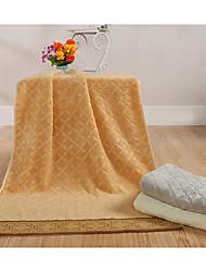Недорогие -Свежий стиль Банное полотенце,Однотонный Высшее качество Чистый хлопок Полотенце
