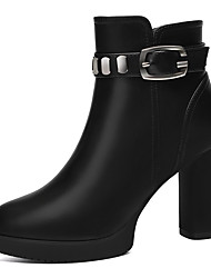 cheap -Women's Shoes Synthetic Fall / Winter Fashion Boots / Bootie Boots Booties / Ankle Boots Black / Red / Party & Evening