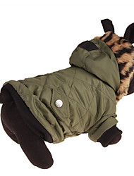 cheap -Dog Coat Dog Clothes Casual/Daily Leopard Green Costume For Pets