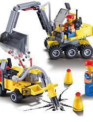 cheap -Building Blocks Backhoe Loader Excavator Toys Vehicles Kids Boys Boys' 192 Pieces
