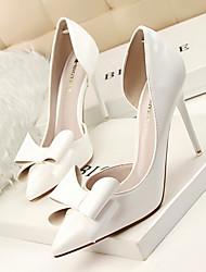 Damen Schuhe PU Frühling Sommer Komfort High Heels Für Normal Kleid Weiß Silber Grau Rot Rosa