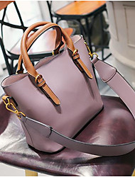 Women Bags All Seasons PU Tote Zipper for Casual Army Green Brown Light Purple
