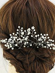 abordables -peinado del pelo del oro tocado estilo elegante femenino del banquete de boda