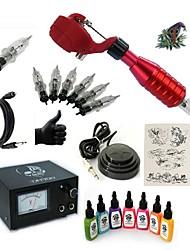 Недорогие -Татуировочная машина Набор для начинающих 1 х Роторная тату-машинка для контура и заливки 20 W 5 х Съемный держатель 5 штук Иглы