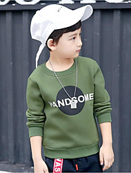 T-shirt Da ragazzo Cotone Elastene Tinta unita Primavera Autunno