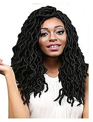 """cheap -Dread Locks Hair Braid Crochet Curly Ombre Braiding Hair 100% Kanekalon Hair Black 18"""" 1 Braiding Hair Hair Extensions"""