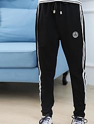 cheap -Boys' Stripe Pants Winter Fall Black Gray