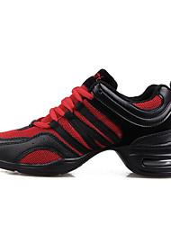 Недорогие -Для женщин Танцевальные кроссовки Дышащая сетка На каблуках Тренировочные Туфли на танкетке Белый Черный Черный/Красный Черный/оранжевый