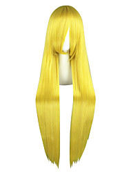 cheap -Synthetic Wig kinky Straight Synthetic Hair Blonde Wig Women's Long Capless