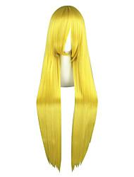 economico -Donna Parrucche sintetiche Lungo Kinky liscia Biondo Parrucca Cosplay Parrucca per travestimenti