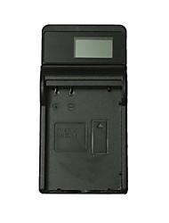 ismartdigi el14 lcd usb cargador de batería de la cámara para nikon en-el14 d3200 d3300 d5100 d5200 d5300 d5500- negro