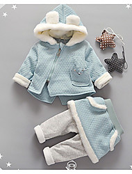 Girls' Casual/Daily Solid Sets,Cotton Fall Winter Clothing Set