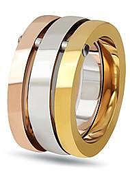 Недорогие -Жен. Титановая сталь Обручальное кольцо / Кольцо - Простой / Elegant Разные цвета Кольцо Назначение Свадьба / Для вечеринок