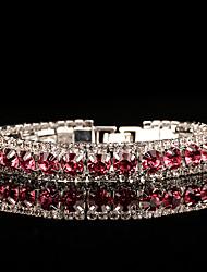 abordables -Femme Zircon Chaînes & Bracelets - Argent Rétro, Elégant Bracelet Rose Pour Mariage / Soirée