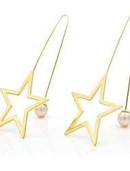 economico -Per donna Orecchini a goccia Zircone cubico Perle finte Dolce Adorabile Di tendenza Zirconi Rame Placcato in oro Stella Gioielli Per