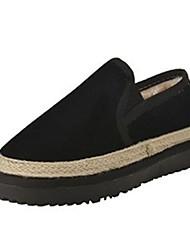 Femme Chaussures Cachemire Hiver Confort Mocassins et Chaussons+D6148 Bout rond Pour Décontracté Noir Gris Violet Marron