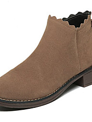 Women's Shoes PU Winter Comfort Boots For Sports & Outdoor Brown Black
