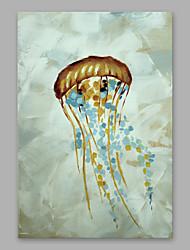 Недорогие -Ручная роспись Животные Вертикальная, Modern холст Hang-роспись маслом Украшение дома 1 панель