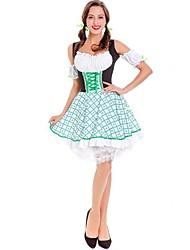 baratos -Ternos de Empregadas Bavarian Oktoberfest Fantasias de Cosplay Mulheres Natal Dia Das Bruxas Carnaval Oktoberfest Ano Novo Festival /