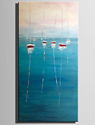 cheap -Hand-Painted Landscape Vertical,Rustic Modern One Panel Canvas Oil Painting For Home Decoration