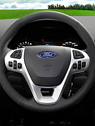 cheap -Steering Wheel Covers Leather 38cm Black / Red For Ford Fiesta / Ecosport All years