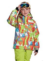 Garçon Fille Veste de Ski Chaud Ventilation Pare-vent Vestimentaire étanche Ski Multisport Sports d'hiver Après Ski Polyester Filet