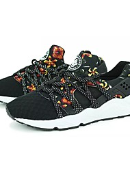 Women's Shoes Breathable Mesh All Season Comfort Sneakers Round Toe For Casual Black Red Black/Yellow