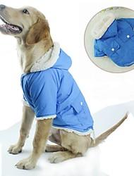 economico -Gatto Cane Cappottini Felpe con cappuccio Abbigliamento per cani Casual Tenere al caldo Chrismas Top caldi Halloween Solidi Verde Blu Rosa