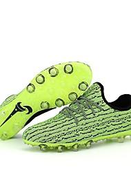 baratos -Homens sapatos Tricô / Couro Sintético / Couro Ecológico Verão / Inverno Solados com Luzes Tênis Futebol Preto / Cinzento / Verde