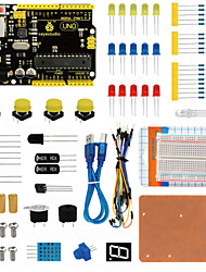billiga -Keyestudio uno r3 breadboard kit för arduino starter med dupont wireledresistorpdf