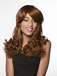 cheap -Human Hair Capless Wigs Human Hair Curly Side Part Long Machine Made Wig Women's