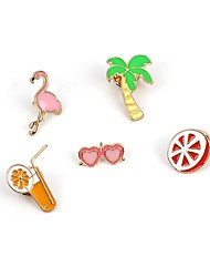 cheap -Women's Brooches Jewelry Lovely Hiphop Korean Alloy Circle Leaf Flamingo Heart Jewelry For Daily Going out