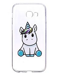 cheap -Case For Samsung Galaxy A5(2017) A3(2017) Transparent Pattern Back Cover Unicorn Soft TPU for A3(2017) A5(2017) A5(2016) A3(2016)