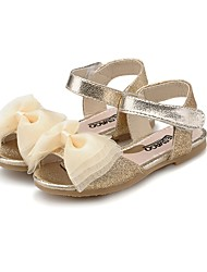 baratos -Para Meninas Sapatos Courino Verão Solados com Luzes Conforto Sandálias Laço Gliter com Brilho para Casual Social Dourado Azul