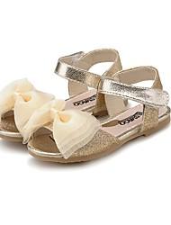 cheap -Girls' Shoes Leatherette Summer Comfort / Light Soles Sandals Bowknot / Sparkling Glitter for Gold / Blue