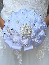 economico -Bouquet sposa Bouquet / Fiori finti Matrimonio Pizzo / Seta 25 cm ca.