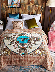 baratos -Velocino de Coral, Impressão Reactiva Floral Fibras Acrilicas cobertores