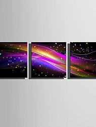 cheap -E-HOME® Stretched LED Canvas Print Art Gorgeous Color LED Flashing Optical Fiber Print Set of 3