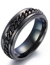 billige -mænds band ringer metalliske rustfri cirkel smykker til daglig udrejse
