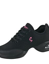 "cheap -Women's Dance Sneakers Breathable Mesh Sneaker Outdoor Low Heel Red Black White 2"" - 2 3/4"""