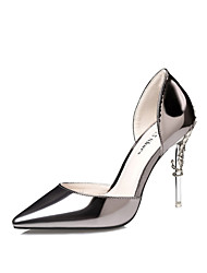cheap -Women's Shoes Patent Leather Spring / Summer Club Shoes Heels Walking Shoes Stiletto Heel Dark Grey / Silver / Pink / Wedding / Party & Evening / Dress / Party & Evening