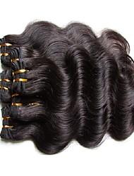 Недорогие -Натуральные волосы Естественные кудри Человека ткет Волосы Наращивание волос Черный