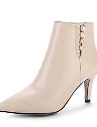 cheap -Women's Shoes Leatherette Fall Winter Fashion Boots Boots Pointed Toe Booties/Ankle Boots Buckle For Casual Dress Green Brown Beige Black
