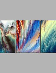 economico -Dipinta a mano Astratto Modern Tre Pannelli Tela Hang-Dipinto ad olio For Decorazioni per la casa