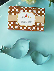 cheap -2pcs/box Love Birds Cookie Cutters in Thank You Giftbox Beter Gifts®Baby Shower Keepsakes