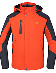 cheap -Deshengren® Men's Hiking Jacket Outdoor Winter Waterproof Thermal / Warm Windproof Insulated Breathable Winter Jacket Top Skiing Camping