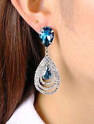 cheap -Women's Drop Crystal / Rhinestone Crystal Stud Earrings / Drop Earrings - Classic / Fashion White / Green / Blue Earrings For Party / Gift