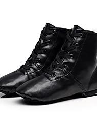 cheap -Children's Jazz Cowhide Full Sole Sneaker Professional Flat Heel Black